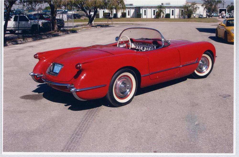 1954 CHEVROLET CORVETTE CONVERTIBLE - Rear 3/4 - 49670