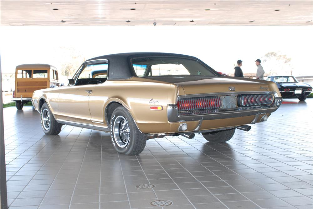 1968 MERCURY COUGAR XR7 COUPE - Rear 3/4 - 49676