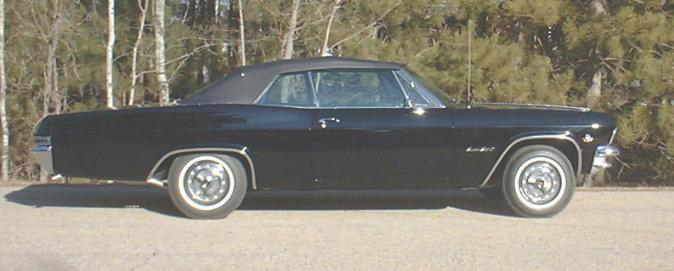 1965 CHEVROLET IMPALA SS CONVERTIBLE - Side Profile - 49681