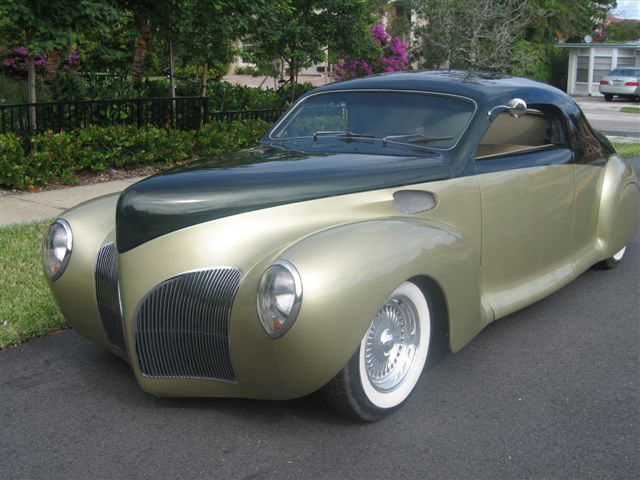 1941 LINCOLN ZEPHYR 2 DOOR BUSINESS COUPE STREET ROD - Front 3/4 - 49696