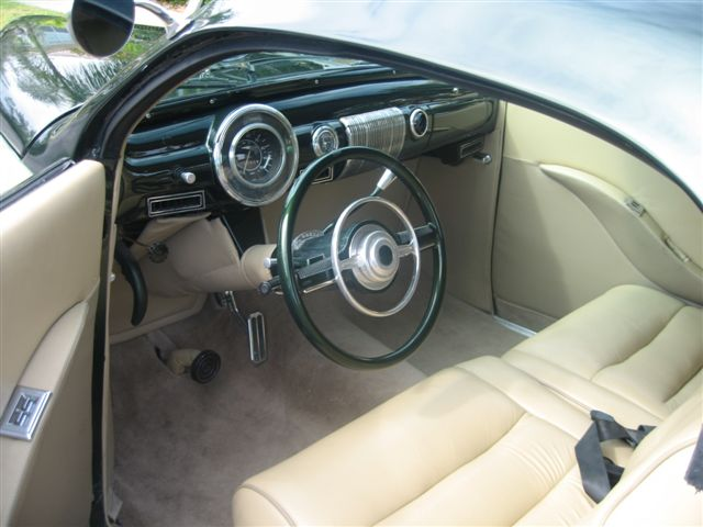 1941 LINCOLN ZEPHYR 2 DOOR BUSINESS COUPE STREET ROD - Interior - 49696