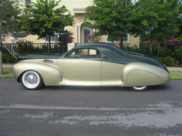 1941 LINCOLN ZEPHYR 2 DOOR BUSINESS COUPE STREET ROD - Side Profile - 49696