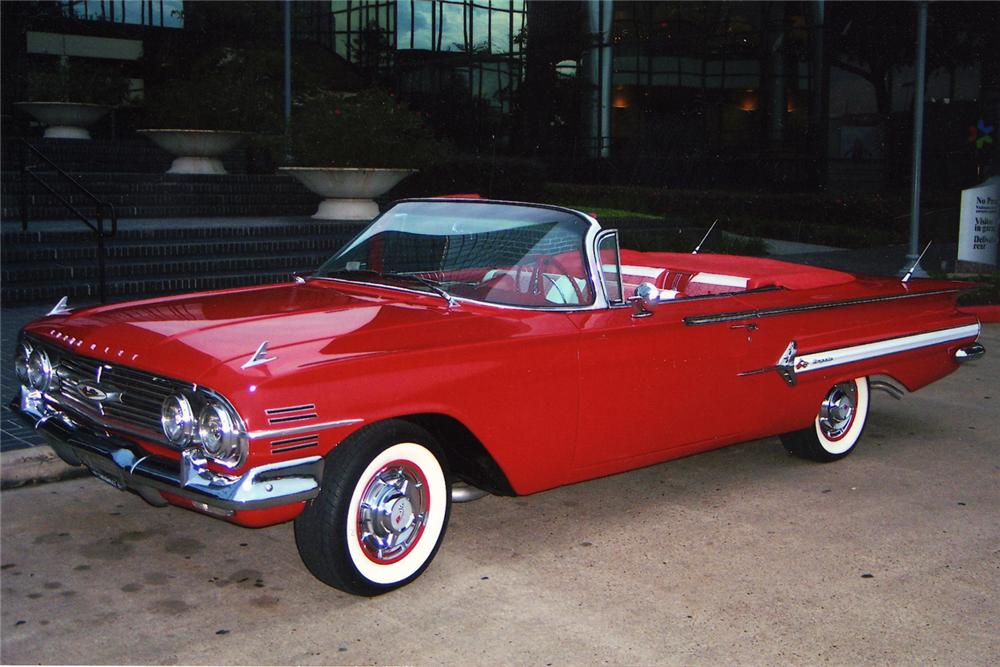1960 CHEVROLET IMPALA CONVERTIBLE - Front 3/4 - 49700