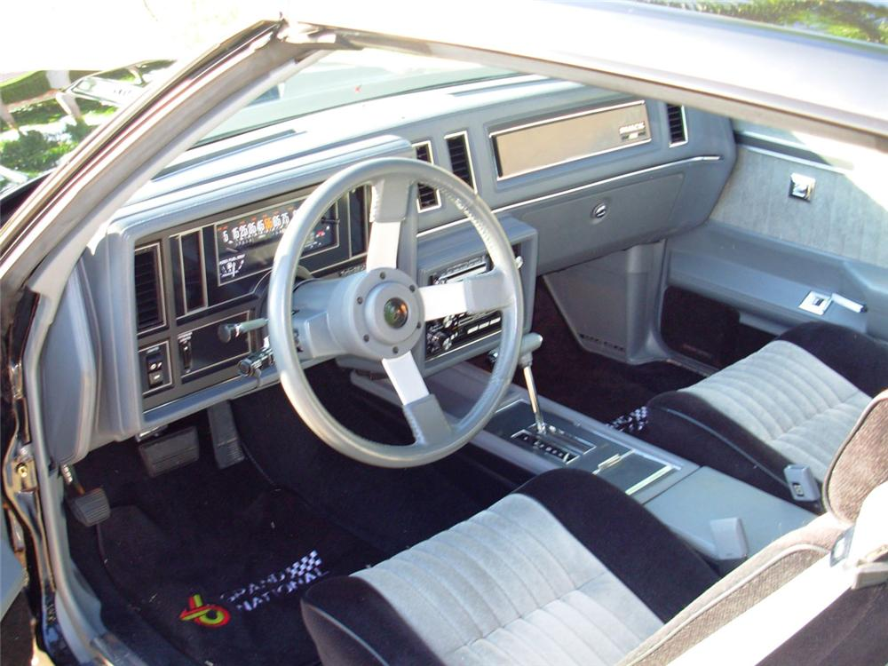 1987 BUICK REGAL GRAND NATIONAL SEDAN - Interior - 49705