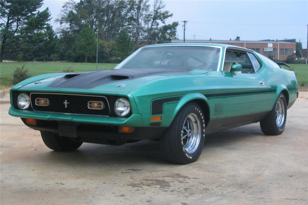 1971 FORD MUSTANG MACH 1 FASTBACK - Front 3/4 - 49706