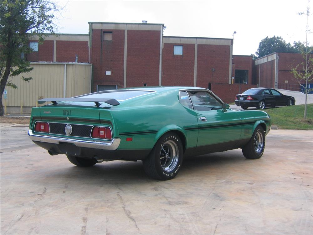 1971 FORD MUSTANG MACH 1 FASTBACK - Rear 3/4 - 49706