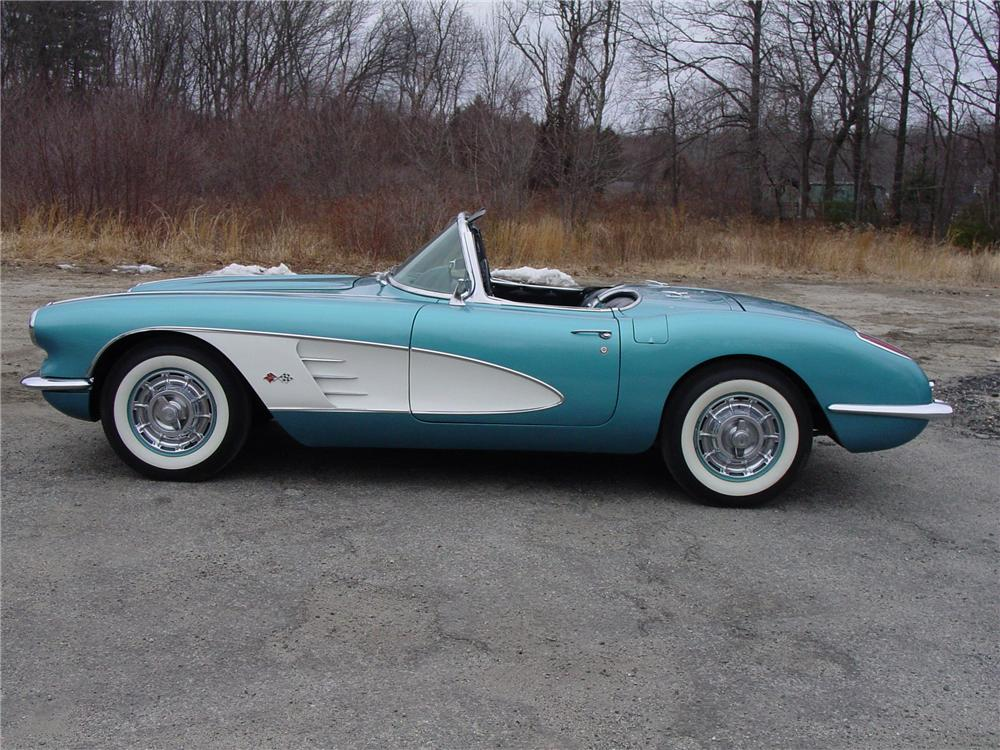 1960 CHEVROLET CORVETTE CONVERTIBLE - Side Profile - 49722