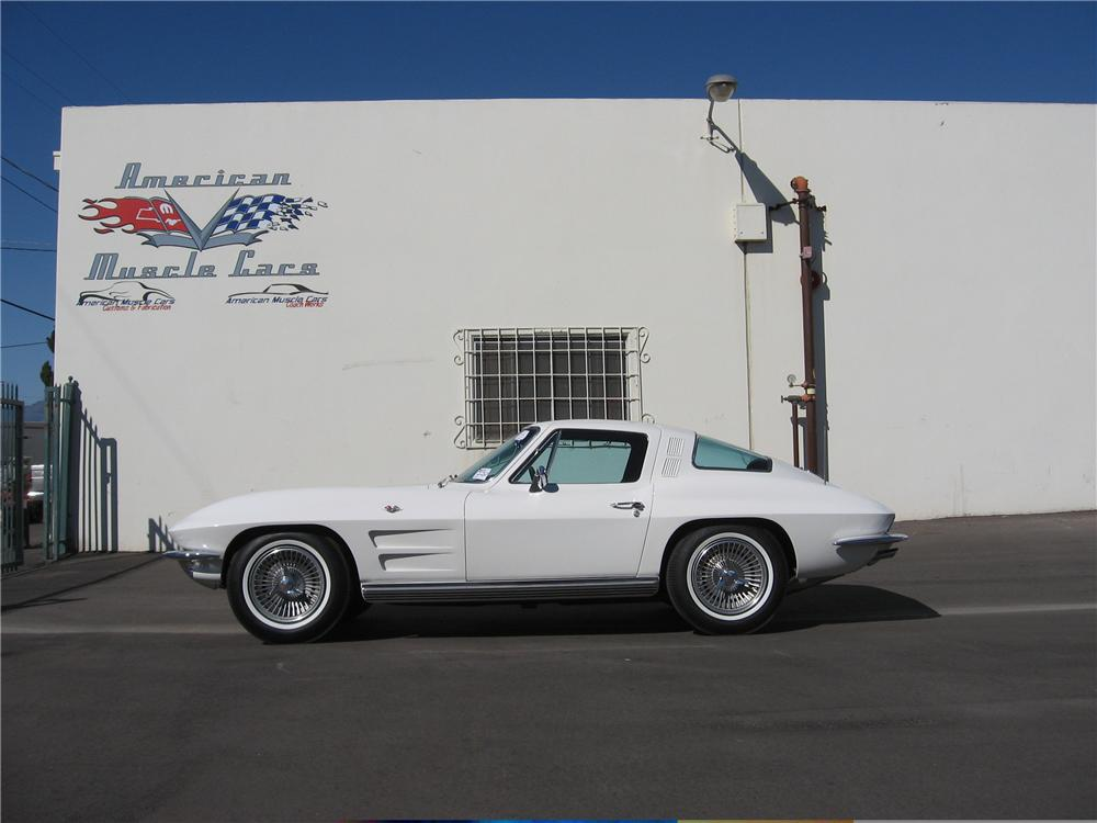 1964 CHEVROLET CORVETTE COUPE - Side Profile - 49728