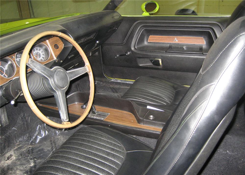 1971 DODGE CHALLENGER R/T COUPE - Interior - 49731