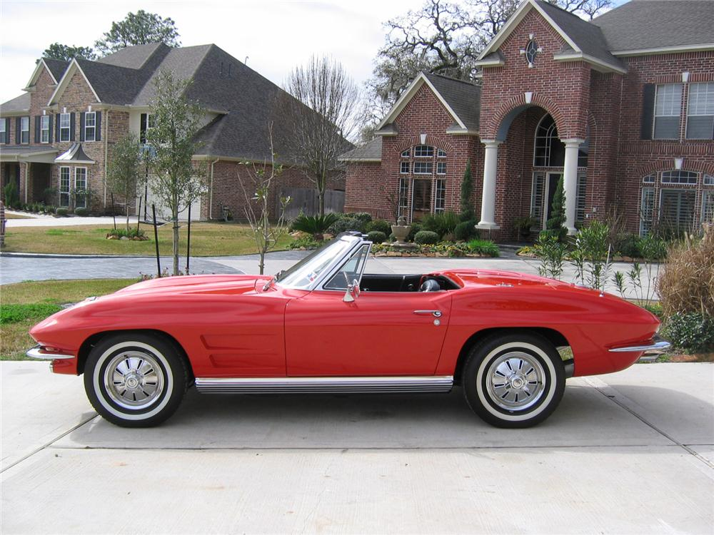 1964 CHEVROLET CORVETTE CONVERTIBLE - Side Profile - 49744