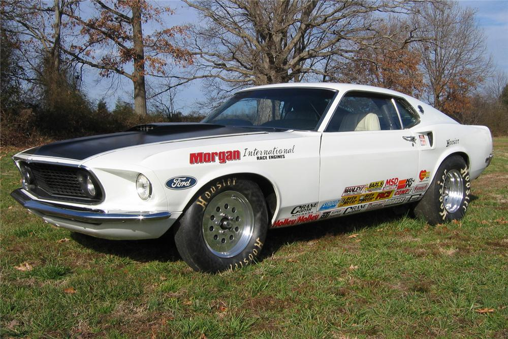 1969 FORD MUSTANG CUSTOM FASTBACK DRAG CAR - Front 3/4 - 49752