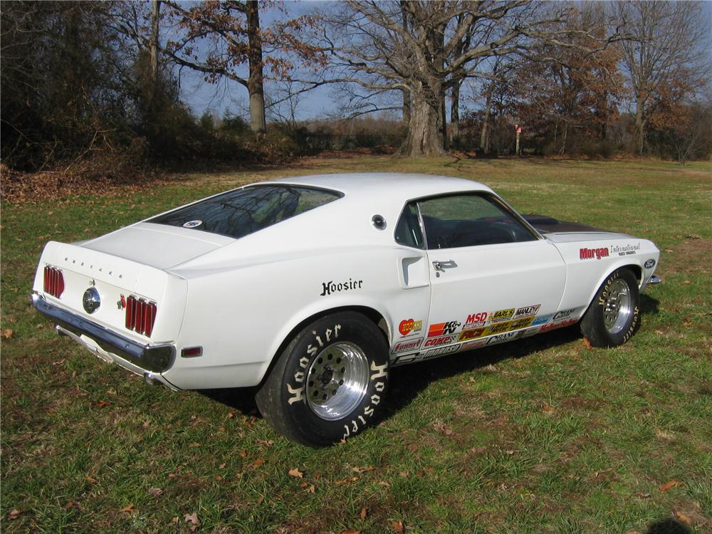 1969 FORD MUSTANG CUSTOM FASTBACK DRAG CAR - Side Profile - 49752