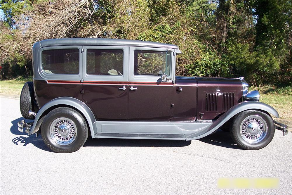 1929 DURANT D-60 CUSTOM 4 DOOR SEDAN - Side Profile - 49761