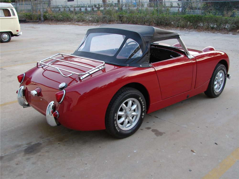 1960 AUSTIN-HEALEY SPRITE BUGEYE CONVERTIBLE - Rear 3/4 - 49762
