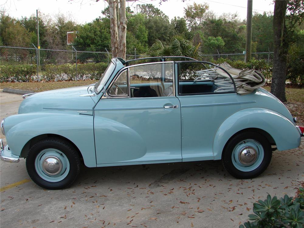 1960 MORRIS MINOR CONVERTIBLE - Side Profile - 49763