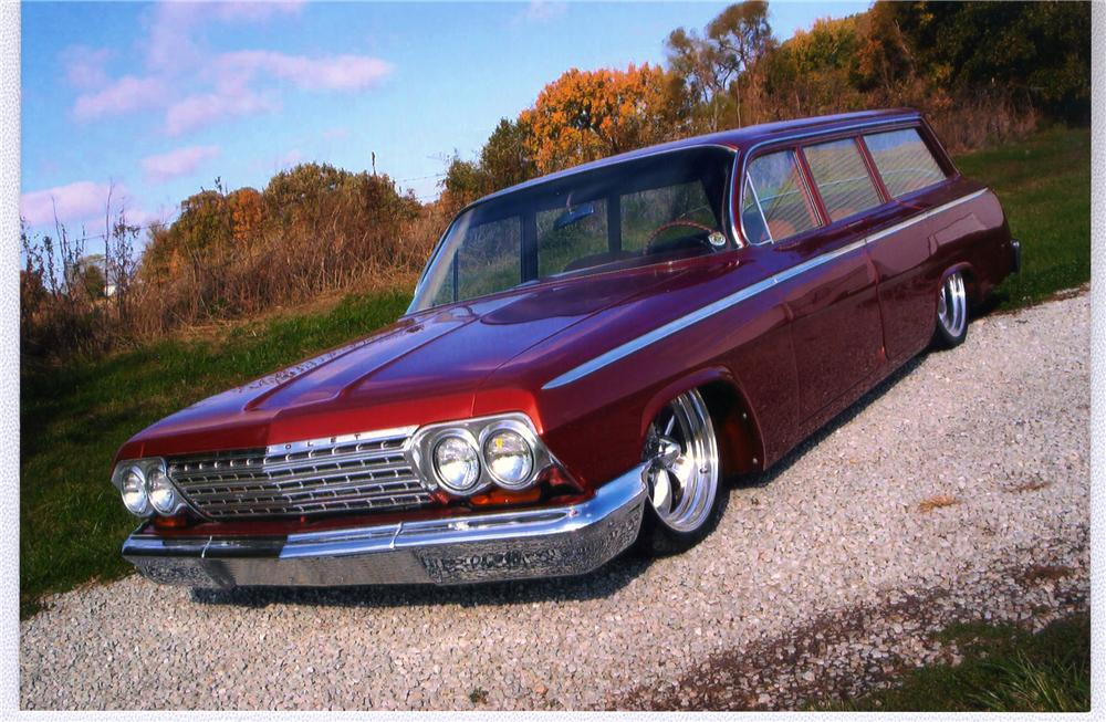 1962 CHEVROLET BEL AIR CUSTOM STATION WAGON - Front 3/4 - 49782