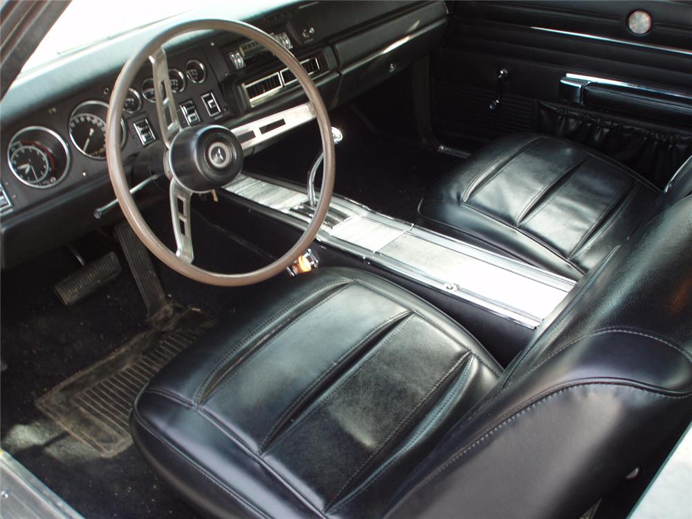 1968 DODGE CHARGER R/T 2 DOOR HARDTOP - Interior - 49798
