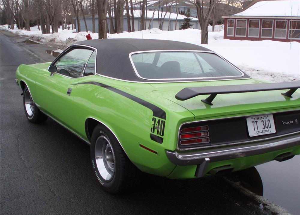 1970 PLYMOUTH CUDA 2 DOOR HARDTOP - Rear 3/4 - 49799