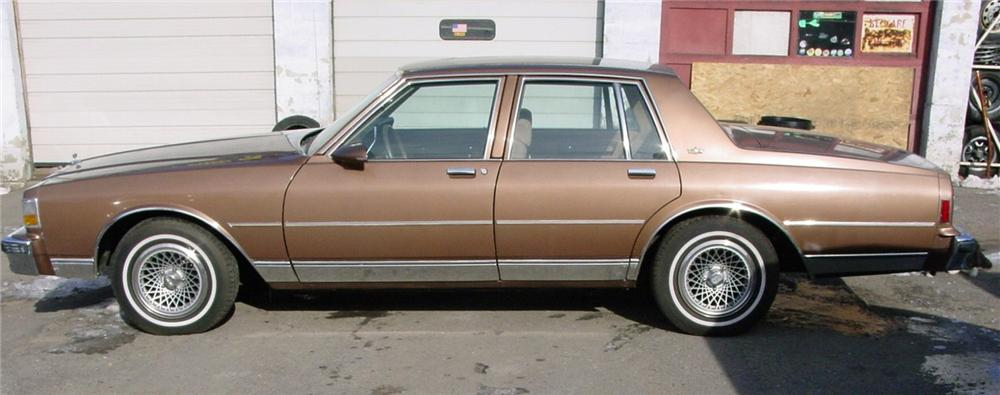 1987 CHEVROLET CAPRICE CLASSIC SEDAN - Side Profile - 49822
