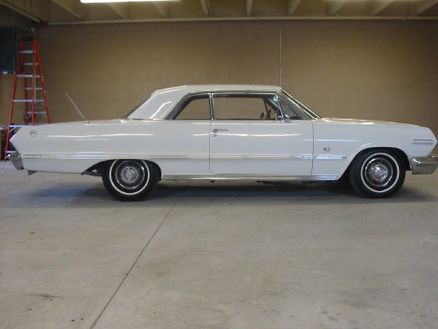 1963 CHEVROLET IMPALA 2 DOOR HARDTOP - Side Profile - 49847