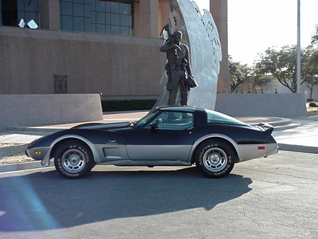 1978 CHEVROLET CORVETTE SILVER ANNIVERSARY PACE CAR - Side Profile - 49861