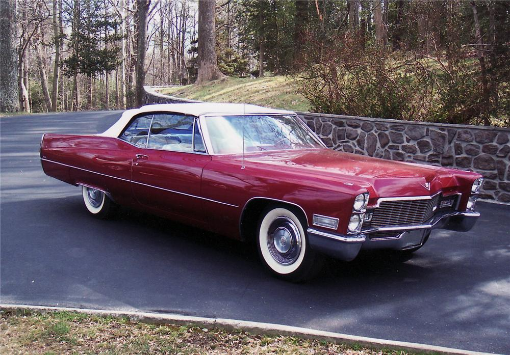 1968 CADILLAC 2 DOOR CONVERTIBLE - Front 3/4 - 49877