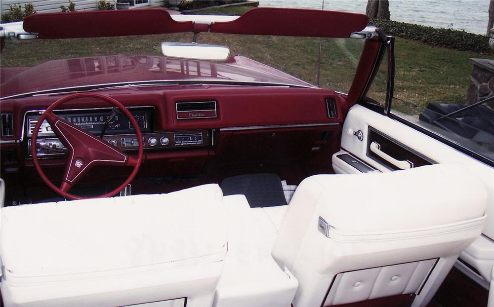 1968 CADILLAC 2 DOOR CONVERTIBLE - Interior - 49877