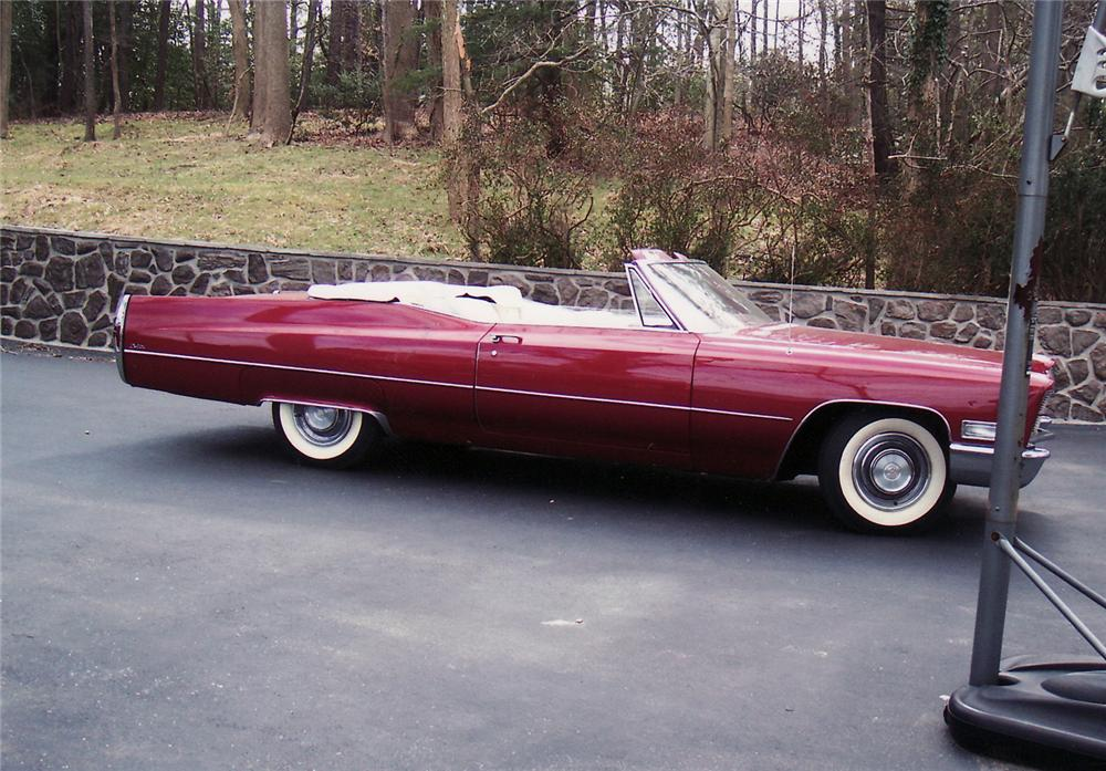 1968 CADILLAC 2 DOOR CONVERTIBLE - Side Profile - 49877
