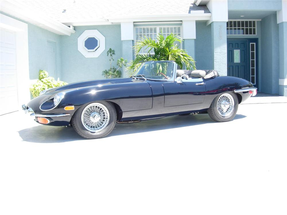 1970 JAGUAR XKE ROADSTER - Side Profile - 49914