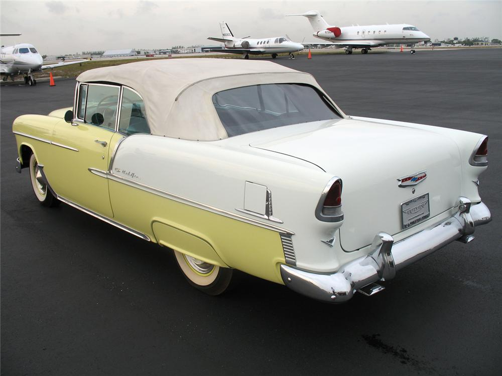 1955 CHEVROLET BEL AIR CONVERTIBLE - Rear 3/4 - 50027
