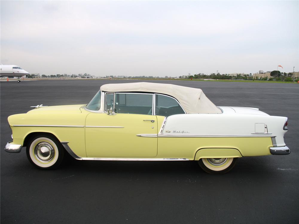 1955 CHEVROLET BEL AIR CONVERTIBLE - Side Profile - 50027