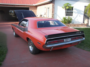 1970 DODGE CHALLENGER T/A 2 DOOR COUPE - Rear 3/4 - 50031