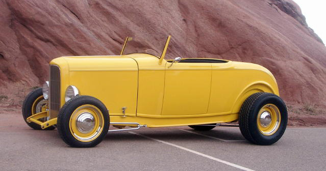 1932 FORD CUSTOM ROADSTER - Side Profile - 50035