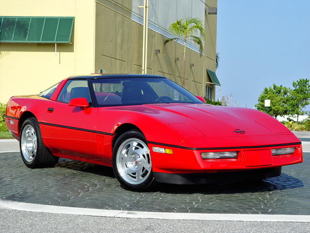 1990 CHEVROLET CORVETTE COUPE - Front 3/4 - 50040
