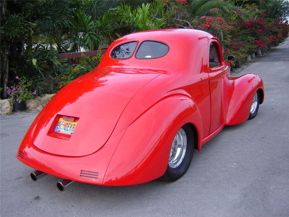 1941 WILLYS CUSTOM COUPE - Rear 3/4 - 50198