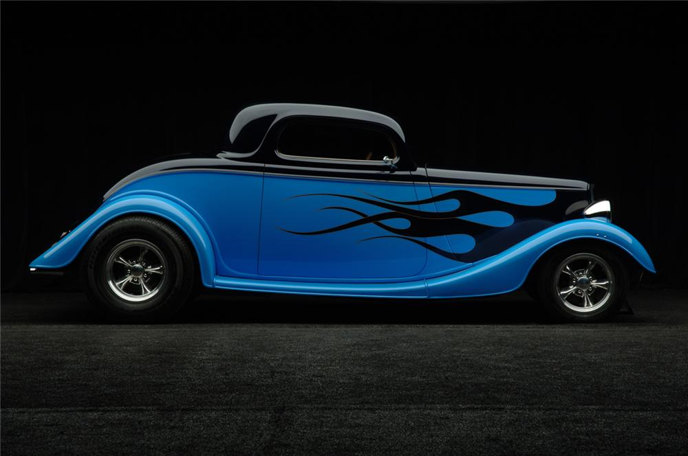 1933 FORD 3 WINDOW CUSTOM COUPE - Side Profile - 50299