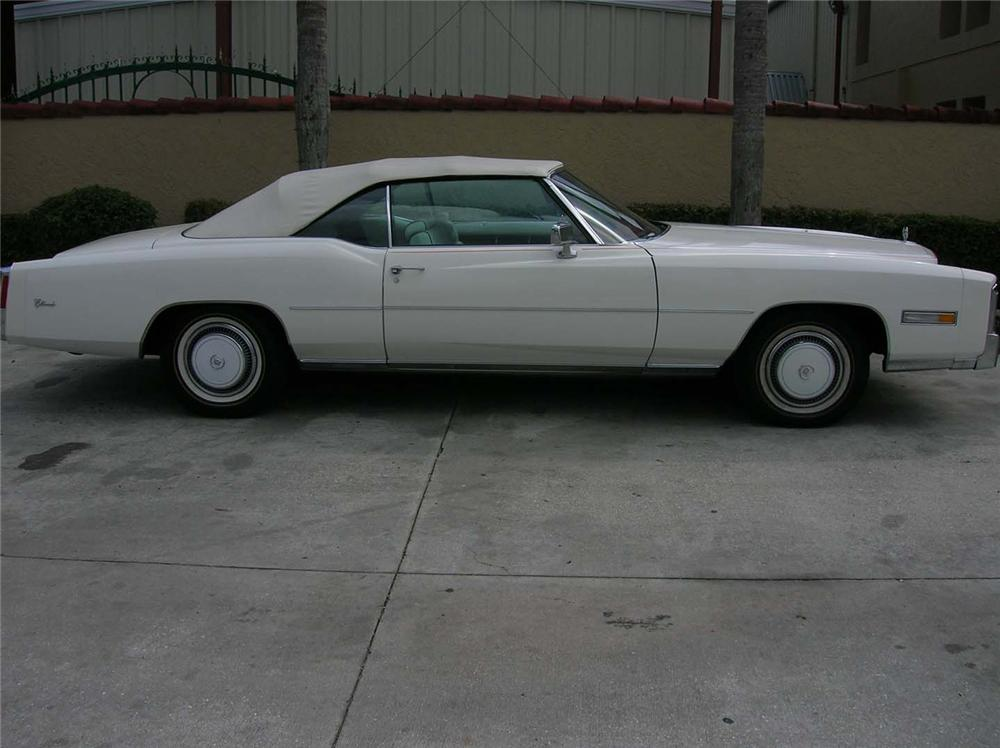 1976 CADILLAC ELDORADO CONVERTIBLE - Side Profile - 50450