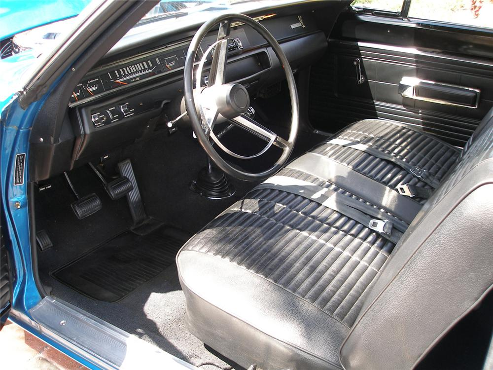 1968 PLYMOUTH ROAD RUNNER 2 DOOR HARDTOP - Interior - 60523