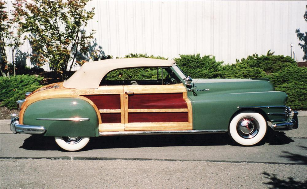 1948 CHRYSLER TOWN & COUNTRY 2 DOOR CONVERTIBLE - Side Profile - 60535