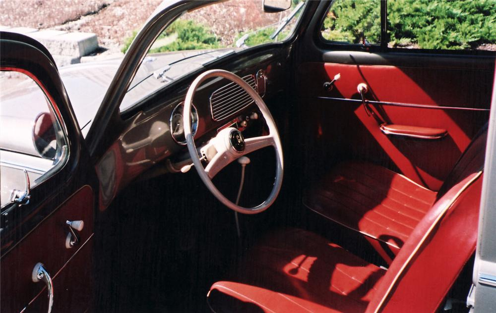 1957 VOLKSWAGEN BEETLE 2 DOOR - Interior - 60538