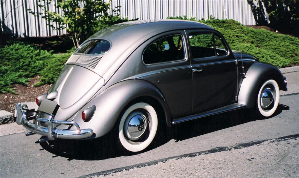 1957 VOLKSWAGEN BEETLE 2 DOOR - Rear 3/4 - 60538