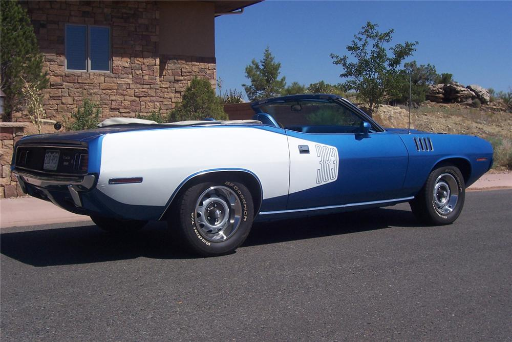 1971 PLYMOUTH CUDA CONVERTIBLE - Side Profile - 60544