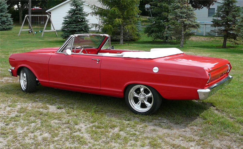 1962 CHEVROLET NOVA CONVERTIBLE CUSTOM - Side Profile - 60547