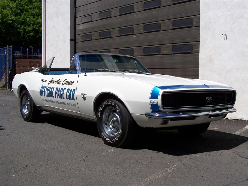 1967 CHEVROLET CAMARO SS INDY PACE CAR RE-CREATION - Front 3/4 - 60558