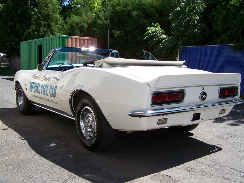 1967 CHEVROLET CAMARO SS INDY PACE CAR RE-CREATION - Rear 3/4 - 60558