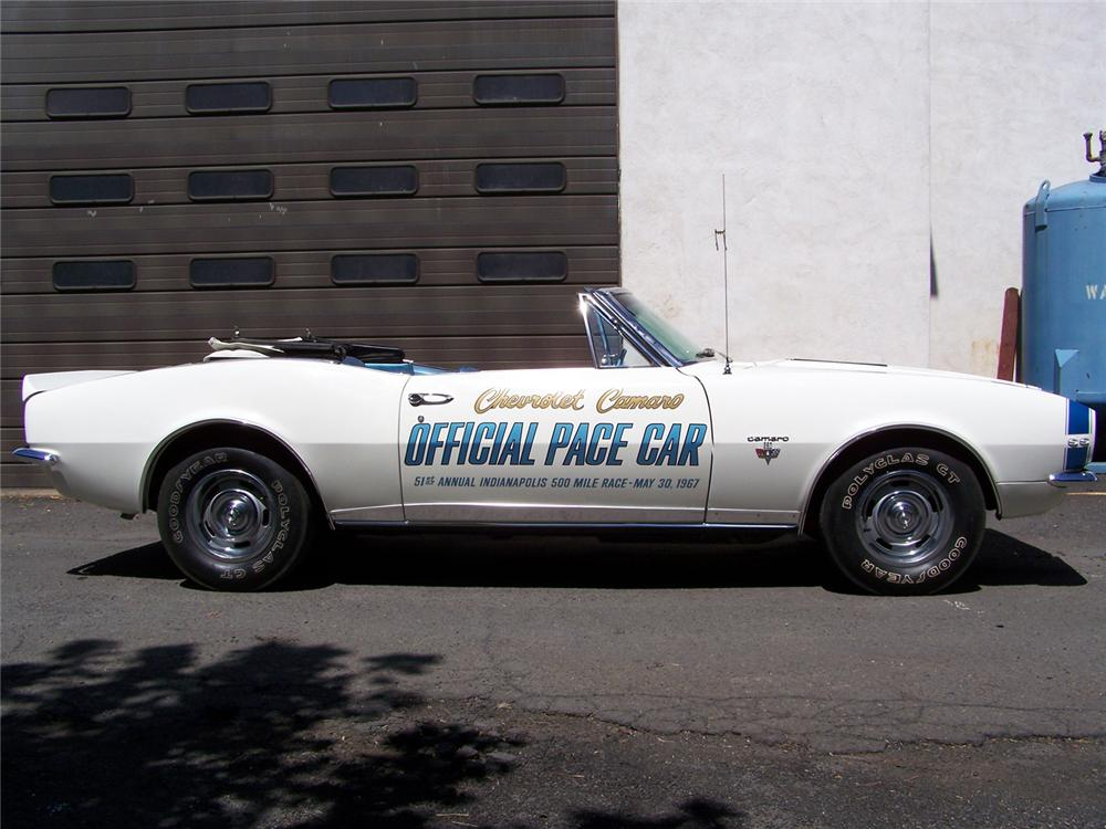 1967 CHEVROLET CAMARO SS INDY PACE CAR RE-CREATION - Side Profile - 60558
