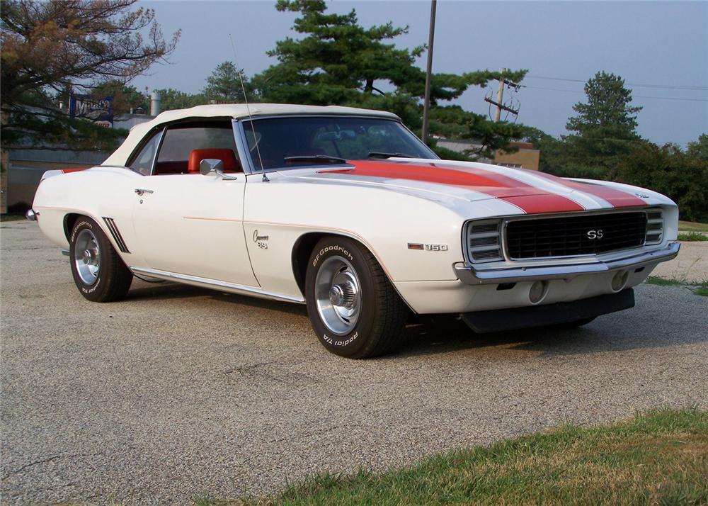1969 CHEVROLET CAMARO INDY PACE CAR RS/SS CONVERTIBLE - Front 3/4 - 60559