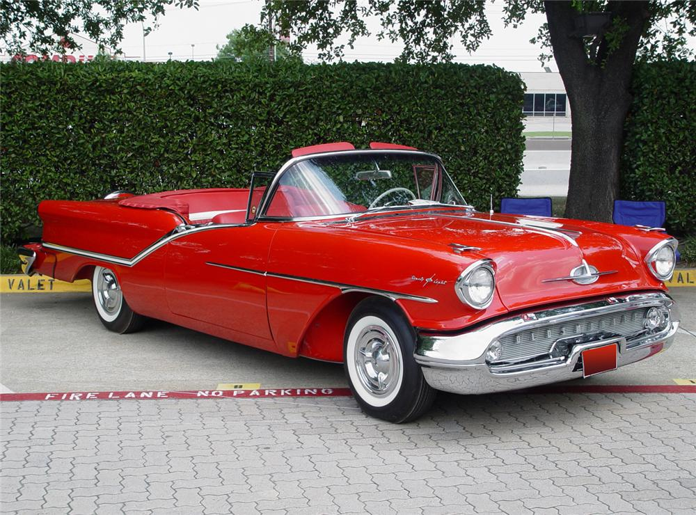 1957 OLDSMOBILE 98 CONVERTIBLE - Front 3/4 - 60587