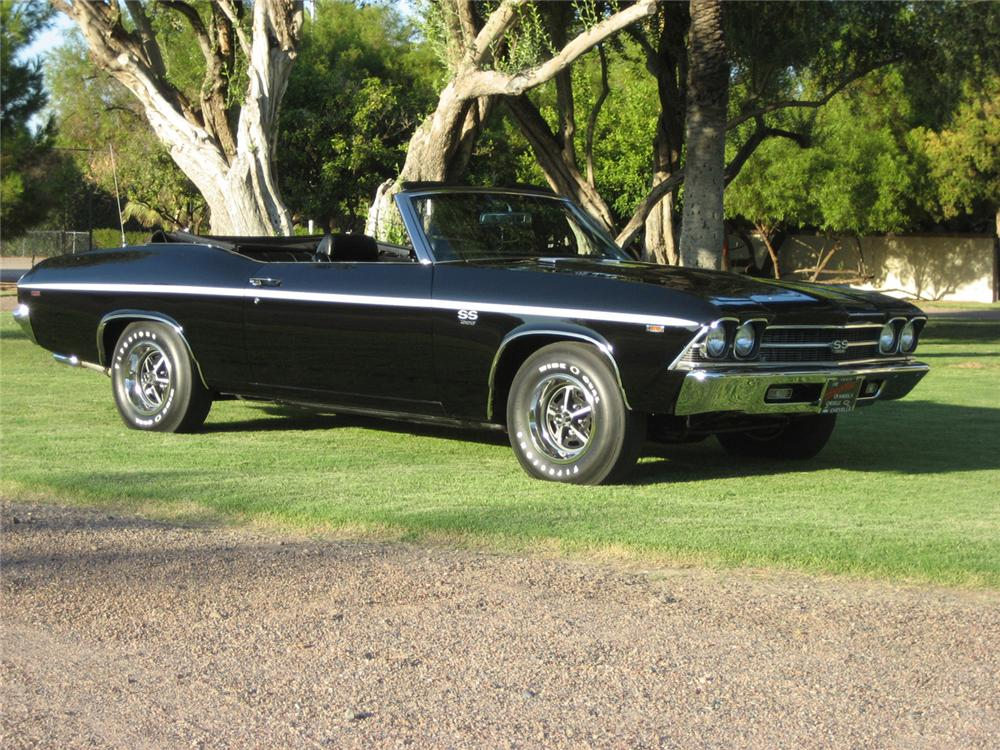 1969 CHEVROLET CHEVELLE SS CONVERTIBLE - Front 3/4 - 60588