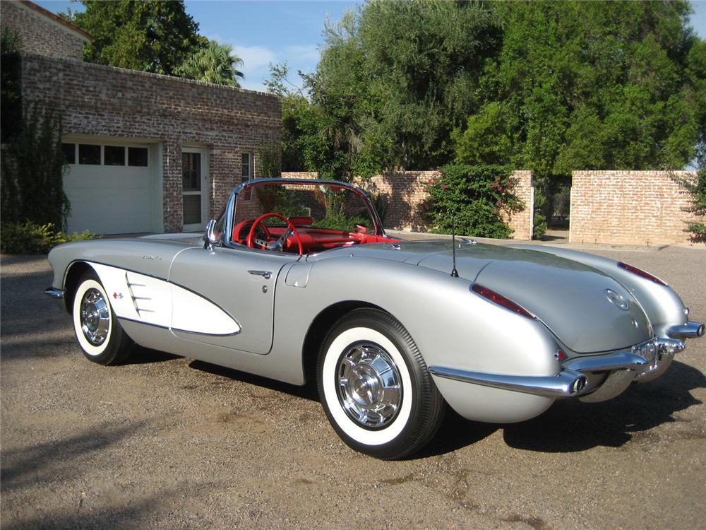 1959 CHEVROLET CORVETTE CONVERTIBLE - Rear 3/4 - 60590